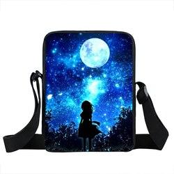 Galaxy/Anoitecer Árvore Bolsa de Ombro Bolsas Femininas Estrela Universo Crianças Messenger Bags Para Meninos Homens Sacos de Escola Dos Miúdos Saco