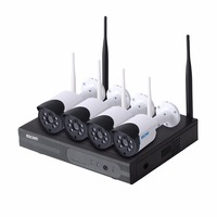Escam WNK404 4CH WiFi IP Cameras Wifi NVR Kit HD 720P Infrared Outdoor Waterproof IP66 Day
