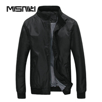 MISNIKI Spring Autumn Bomber Jacket Men Casual Lightweight Men Jacket Coat