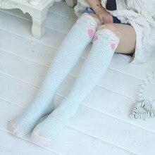 цена на Spring Autumn Children Socks Cotton 3D Printing Cat Baby Girls Knee Socks Fashion Cartoon Bear Dancing Socks Toddlers DS29