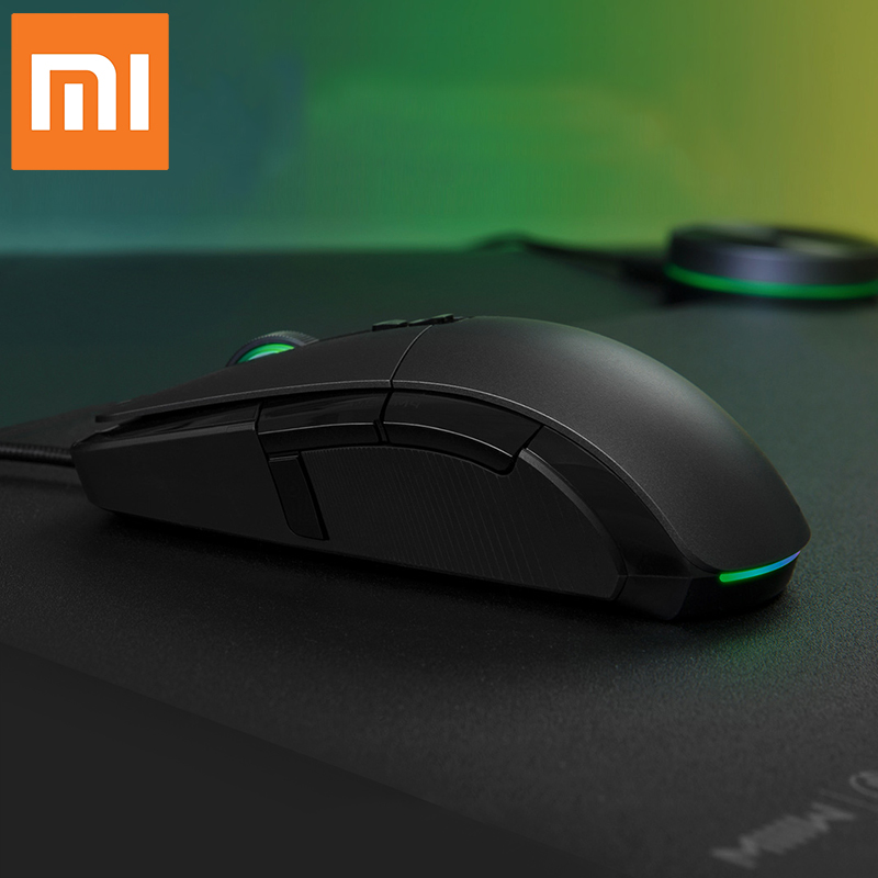 XiaoMi Wireless USB Wired Gaming Mouse 50 7200dpi Ergonomics RGB Light 6Keys Programmable Highly sensitive Games