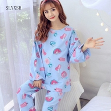 c17a5d1282ad8 Cotton Pregnant Woman Pajamas Maternal Confinement Postpartum Go Out Nurse  Clothes Home Furnishing wear long Sleeve