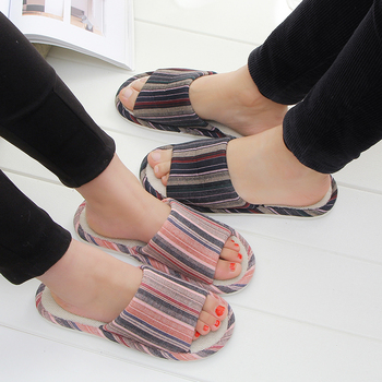 STONE VILLAGE large size 36-45 Summer Striped Mute Flax Women Slippers shoes  Indoor Floor Home Slippers Shoes Drop Shipping 5