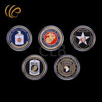 Wholesale Different Design American War Coin Set 5pcs/lot Metal Coins with Plated Case for Souvenirs and Gifts