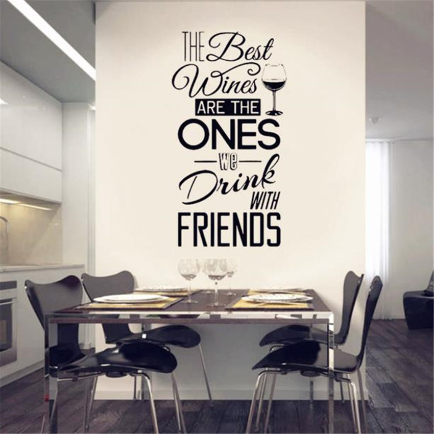 Quotes Wall Decal Vinyl Movable Wall Sticker Dining Room Kitchen Restaurant Wall Art Mural Wall Tattoo Home Decor