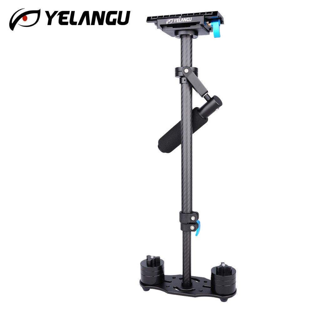 Estabilizador YELANGU S60T adaptación 0,5 3 kg fibra de carbono ajustable S60T tubo de fibra de carbono DSLR estabilizador de cámara de vídeo - 2