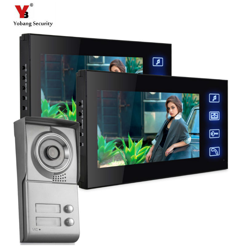 Yobang Security Apartment Outdoor Station video door phone with video recording Video Intercom System door camera with SD cardYobang Security Apartment Outdoor Station video door phone with video recording Video Intercom System door camera with SD card