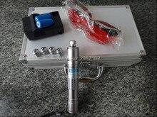 High power military 100w 100000mw 450nm blue laser pointer focusable burning match/dry wood/black plastic/burn cigarette+Glasses