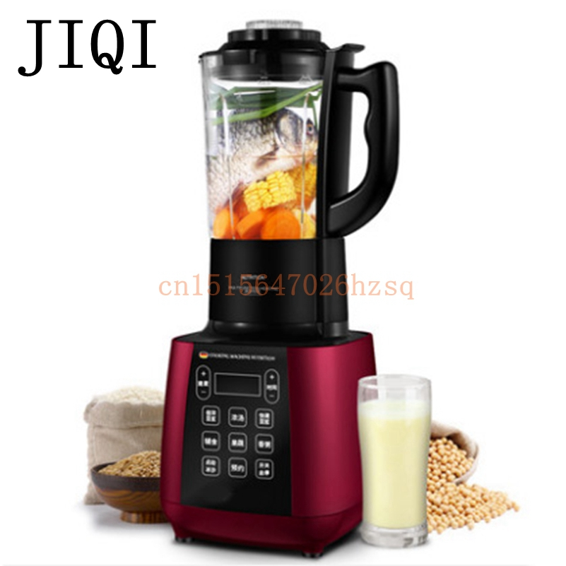 JIQI Powerful Blender Mixer Juicer Food Processor heating broken wall machine 1500W capacity 220V bpa 3 speed heavy duty commercial grade juicer fruit blender mixer 2200w 2l professional smoothies food mixer fruit processor