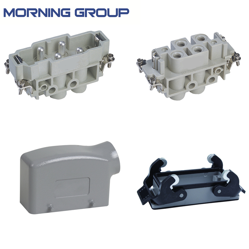 HK-4/0 Whole set Side Entry 4 pin Heavy Duty Connector industrial usage plug heavy duty plug connector hdc ha 004 1 f m 4 1pin 5pin 10a power connectors rectangular aviation plug