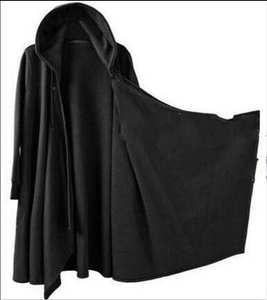 476a0a27e LISCN Mens punk Gothic Long Cloak Cape Coat Black Trench