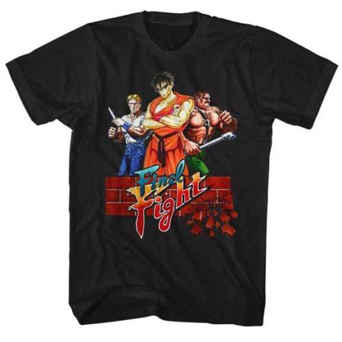 Final Fight 3 Fighters Capcom Video Game Adult T Shirt Comfortable top tee