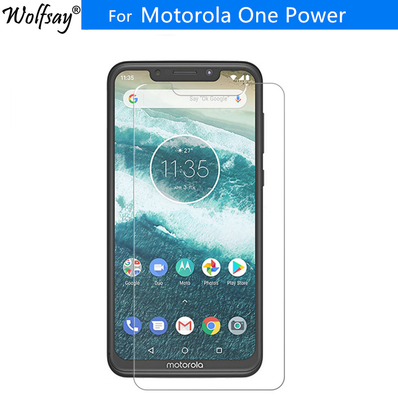 2PCS For Tempered Glass Motorola Moto One Power Screen Protector For Motorola One Power 9H Premium Glass For Moto One Power