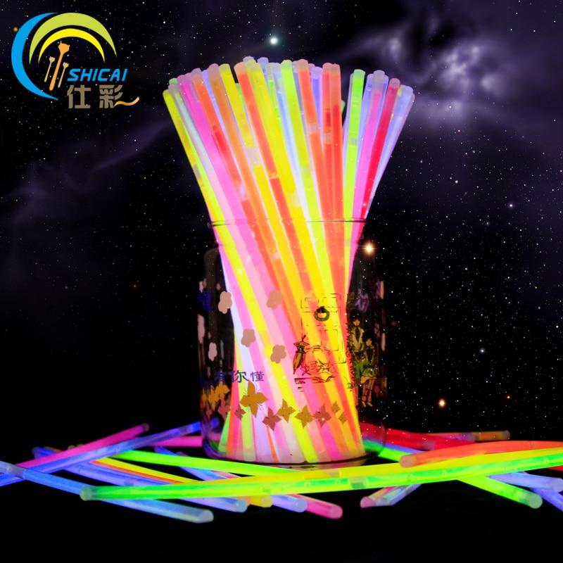 "New Fashion 50 copë 8 ""Mix Glow Stick Design Creative Glow Safe Stick Glick Nickklace Event Ngjyra festive Furnizime Falas"