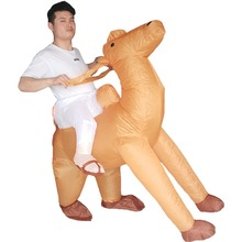 Men Women Inflatable Camel Costume for Adults Animal Rider Halloween Purim Carnival Cosplay Party Fancy Dress