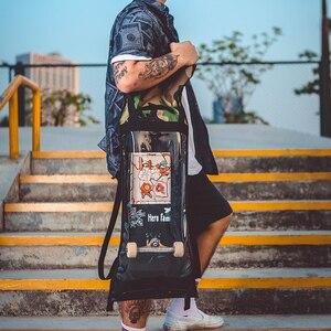 Image 2 - Frete grátis nova oxford tecido duplo rocker sacos de skate amantes mochila sacos estudantes preto sacos de skate