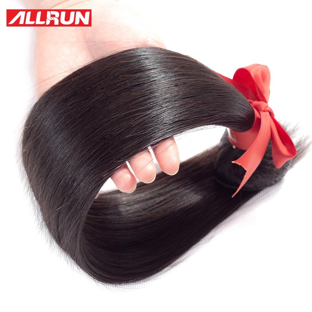 Allrun Straight თმის ჩალიჩები 1/3/4 - ადამიანის თმის (შავი) - ფოტო 4