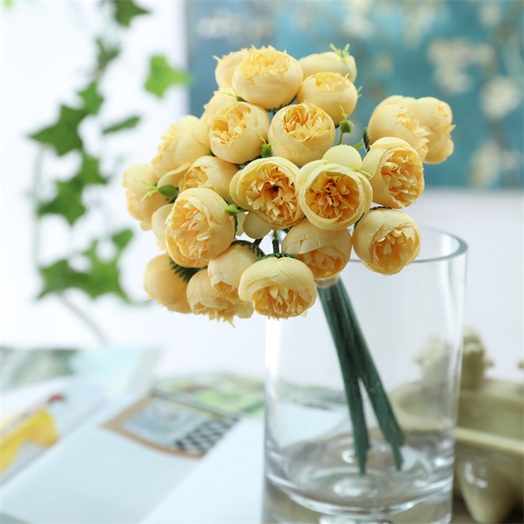 Klonca Luxury Beautiful Silk Flower 28cm 10pcs lot Fake Flower Artificial Flower Camellia Bouquet Home Wedding Decoration in Artificial Dried Flowers from Home Garden