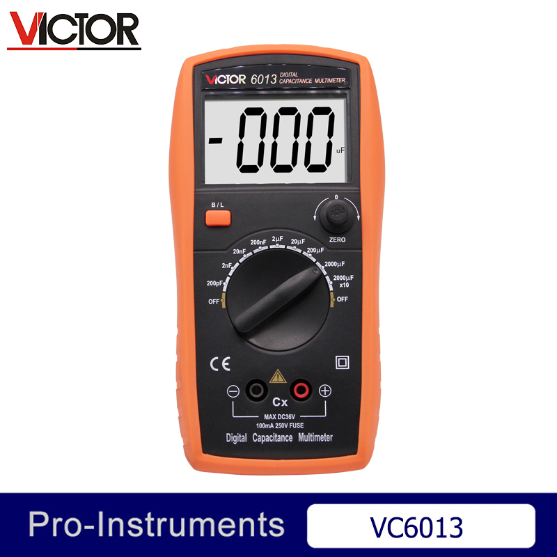 Victor VC6013 Inductance CAPACITANCE LCR Meter Digital Multimeter Resistance Meter Null new style victor digital multimeter 20a 1000v resistance capacitance inductance temp vc9805a