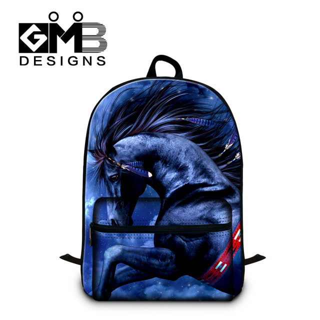 bb50e3d227338 Coolsten Schule Taschen für Teen Jungen Pferd Druck Rucksäcke für Kinder  Nahen Schule Studenten Bookbags Tier