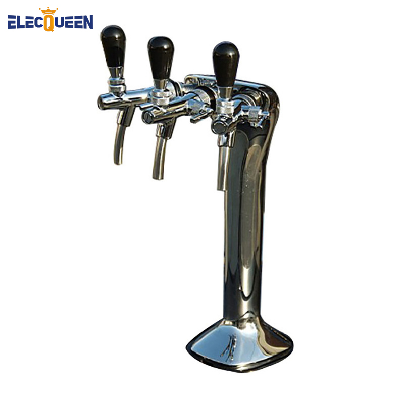 Triple Faucet Snake Font, Cobra Triple Tap Flooded Font, Chrome Plated Brass, for European Flow Control Type Tap
