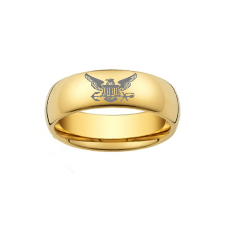 usa hot selling mens tungsten carbide eagle rings gold color - Military Wedding Rings