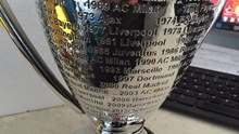 32cm Replica European Champion Clubs' Cup Football Club Soccer League Trophy Award Futebol Fans Craft Souvenir Trofei Calcio Hot new best resin gold plating the golden football boot champions league award trophy cup soccer clubs fans souvenirs collectibles