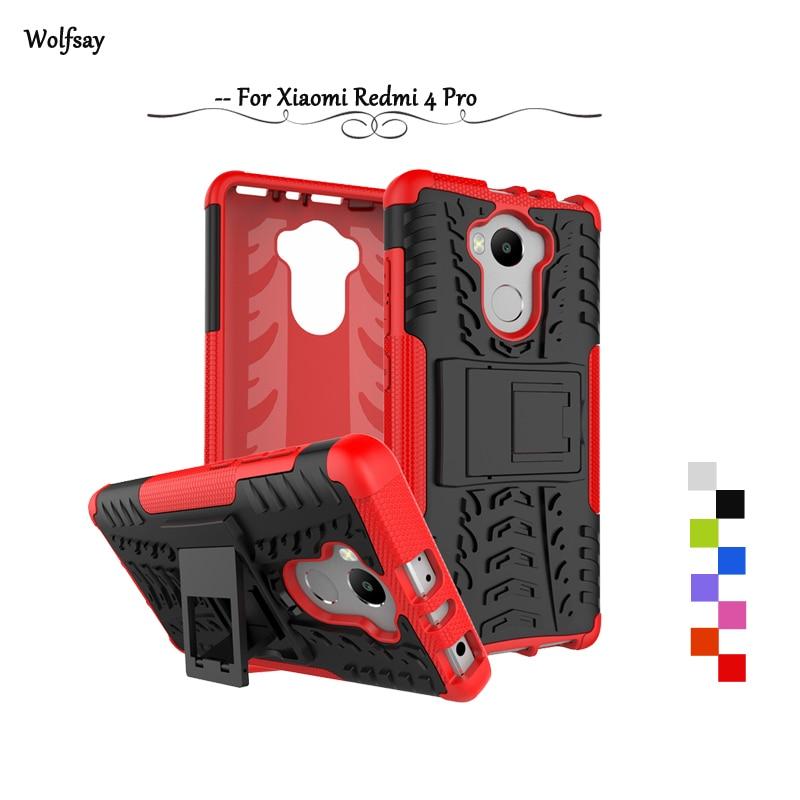 Pro Xiaomi Redmi 4 Pro Pouzdro Shcokproof Armor Rubber Phone Pouzdro pro Xiao Redmi 4 Pro Zadní kryt pro Xiaomi Redmi 4 Pro Protector