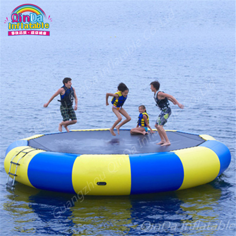 Inflatable Bouncer Water Trampoline China manufacturers air bouncer inflatable trampolines Jumping Bed Adult Pool Toys lake or ocean inflatable funny water sports game water trampoline with air pump and repair kit