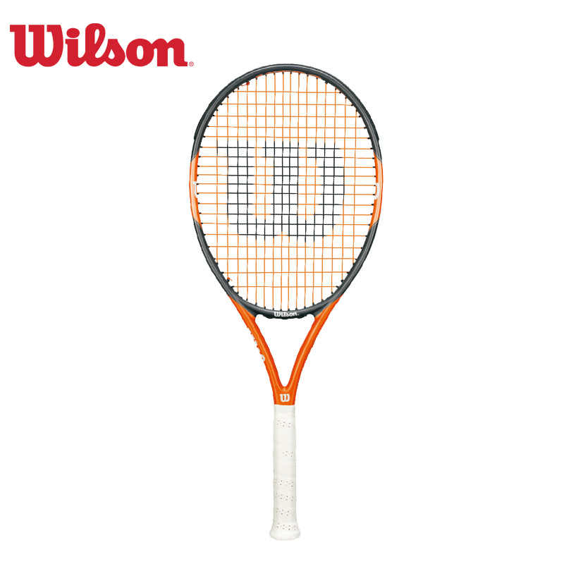 Original Wilson Integrative Structure Comfortable And Durable Single Tennis Racket Nitro Team 105 Carbon Aluminum Alloy WRT32890