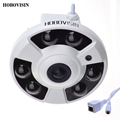 HOBOVISIN Panoramic IP Camera 720P 960P 1080P Optional Wide Angle FishEye 5MP 1.7MM Lens Camera CCTV Indoor ONVIF 6 ARRAY IR LED