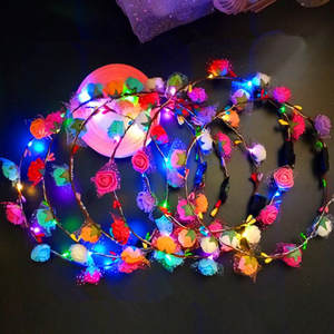 LED Headband Lighted Wedding Decor Glow Party Supplies