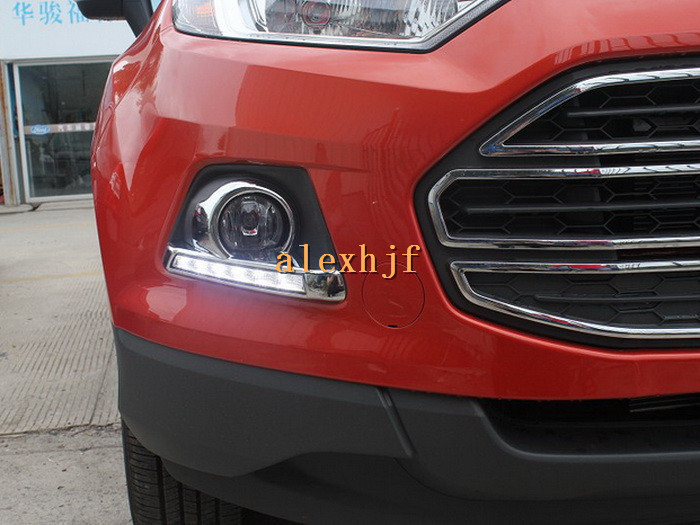 Yeats LED Daytime Running Lights DRL Case For Ford EcoSport 2013~ON, LED Front Bumper Fog Lamp With Cover, 1:1, Fast Shipping yeats led daytime running lights drl led fog lamp case for subaru forester 2013 16 deluxe edition 1 1 replacement fast shipping