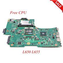 Nokotion placa-mãe para laptop, placa mãe para laptop toshiba satélite l650 l655 pro v000218080 v000218010 hm55 uma placa principal ddr3 cpu grátis