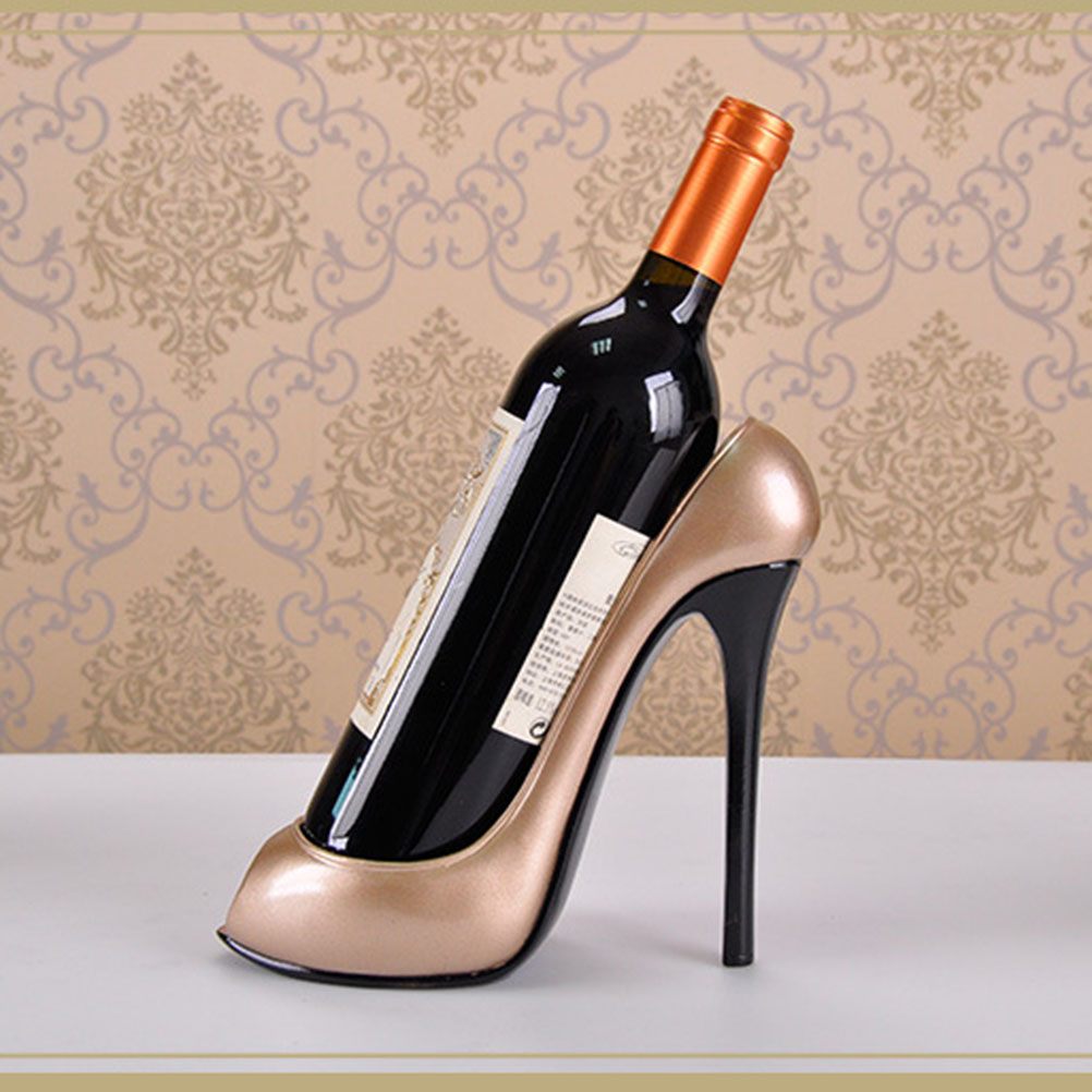 High Heel Shoe Wine Bottle Holder Wine Rack Home Decoration Ornaments Crafts Rack Shelf for Home