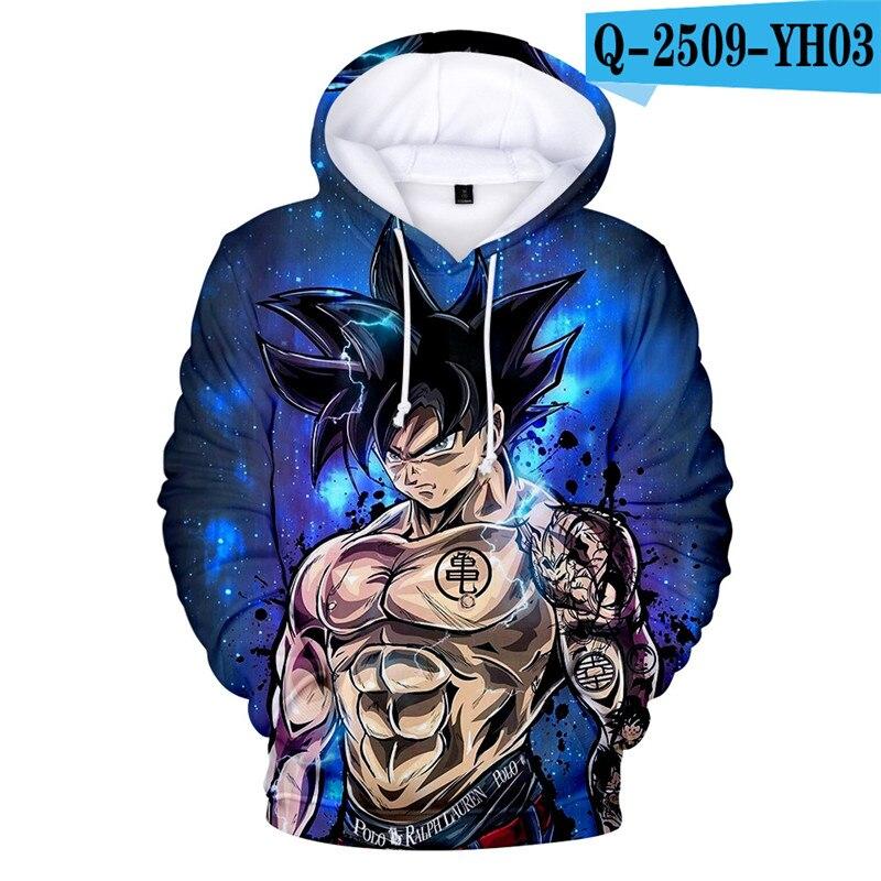 3D Hoodie Pullover Sweatshirt Dragon Ball Z Hoodie Cartoon Clothings Funny Children Clothing Dragonball Z Clothes Kid Clothings