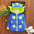 Winter Children Unisex Jackets Cartoon Tyrannosaurus Girls Winter Coat Kids Outerwear Baby Boys/Girls Down Jacket Infant Clothes