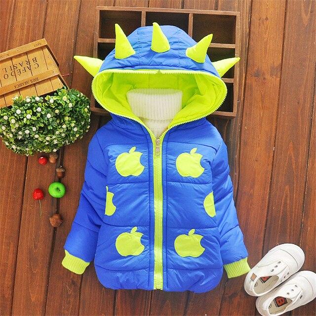 Winter Children Unisex Jackets Cartoon Tyrannosaurus Girls Winter Coat Kids Outerwear Baby Boys/Girls Down Jacket Infant Clothes