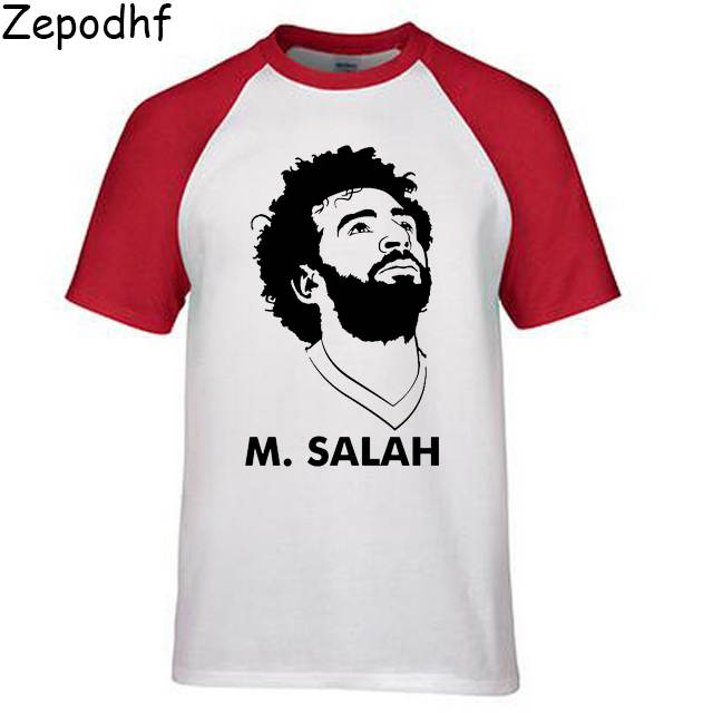 best service 328dd 09f63 Men High quality tide brand Mohamed Salah Print T-shirt Ghaly Egypt World  Player jersey Liverpooles Causal Jersey top