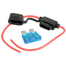 1pc 15A+14AWG Fuse&Medium Waterproof In Line Car Stanard Blade Type Fuse Holder High Quality Hot