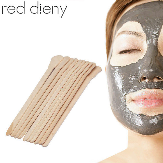 5640b9bde New 10pcs Wooden Disposable Body Hair Removal Multifunctional Wax Waxing  Sticks Spatula Mask Mud Cream Sticks