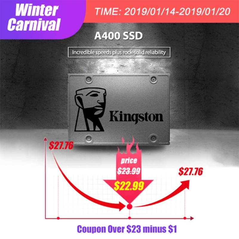 קינגסטון A400 הפנימי 120 GB 240 GB 480 GB 2.5 אינץ SATA III SSD HDD דיסק קשיח HD עבור נייד