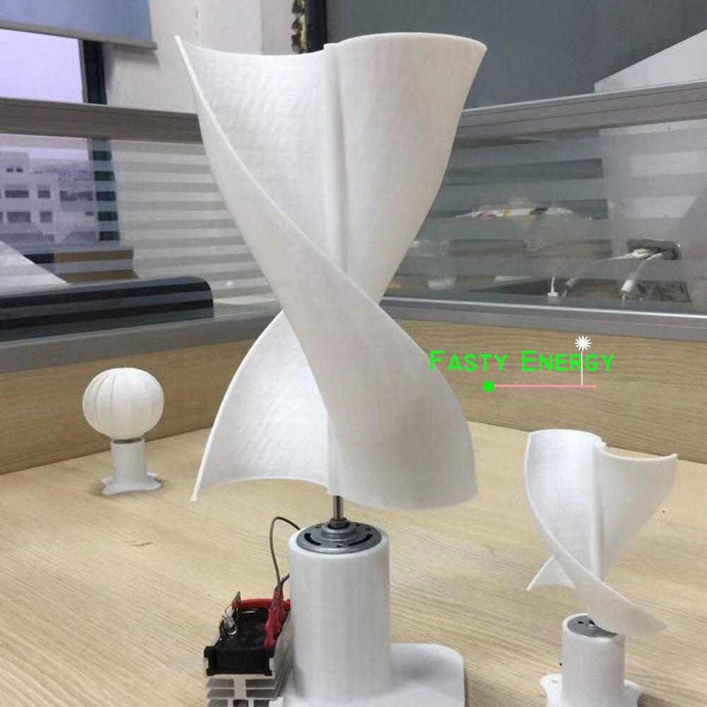 Pas cher DC Micro moteur 30 LED lumières axe Vertical éolienne générateur lames ensemble complet bricolage éolienne générateur moulin cadeau amusant