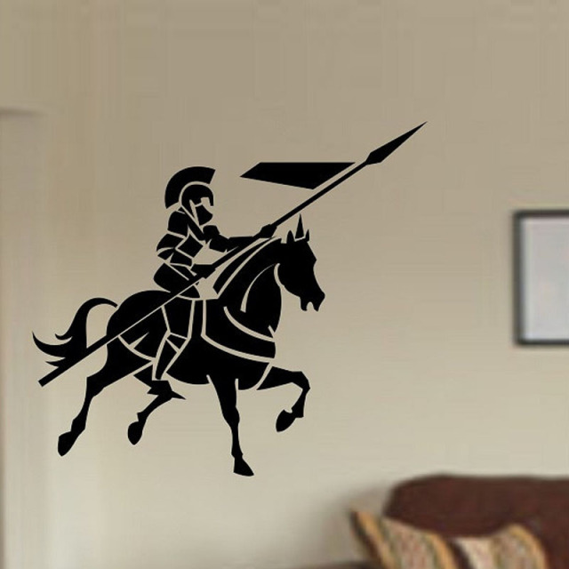medieval wall design aliexpresscom buy medieval knight warrior with horse wall