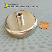 4pcs Mounting Magnet Dia 60mm Magnetic Pots with Thread Neodymium Permanent Strong Holding Magnet