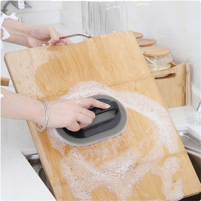 Strong Decontamination Bath Brush Sponge Tiles Brush Hot Sale Magic Strong Decontamination Bath Brush Kitchen Clean Tools 4