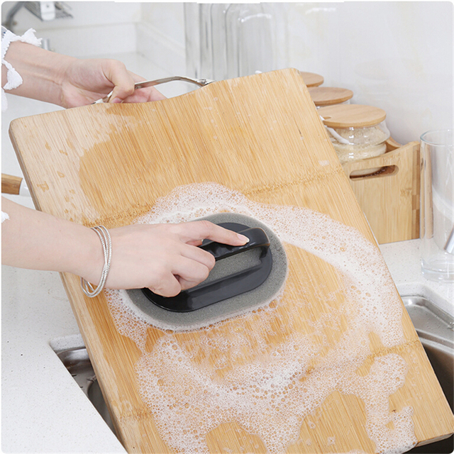 Strong Decontamination Bath Brush Sponge Tiles Brush Hot Sale Magic Strong Decontamination Bath Brush Kitchen Clean Tools