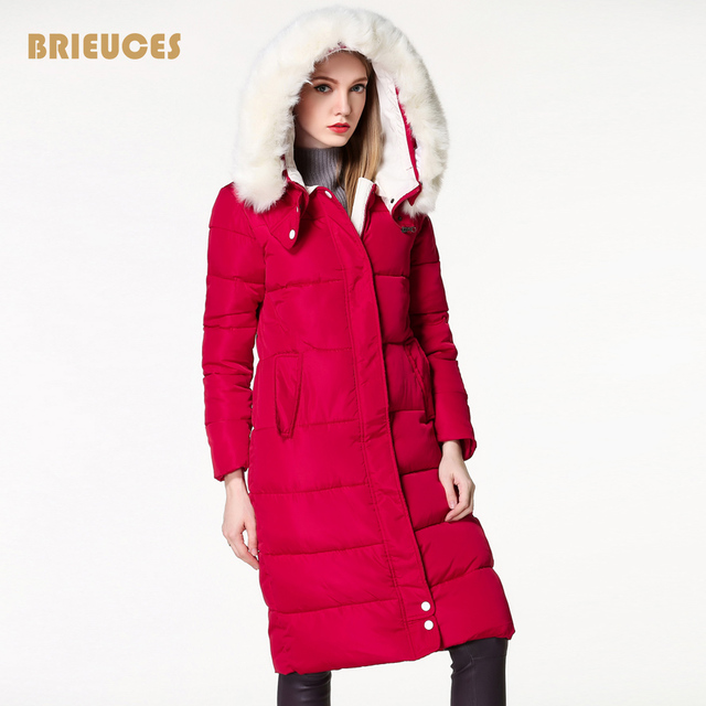 winter coat women large fur hooded warm plus size 3XL winter jacket women parka free shipping navy bread cotton down long jacket