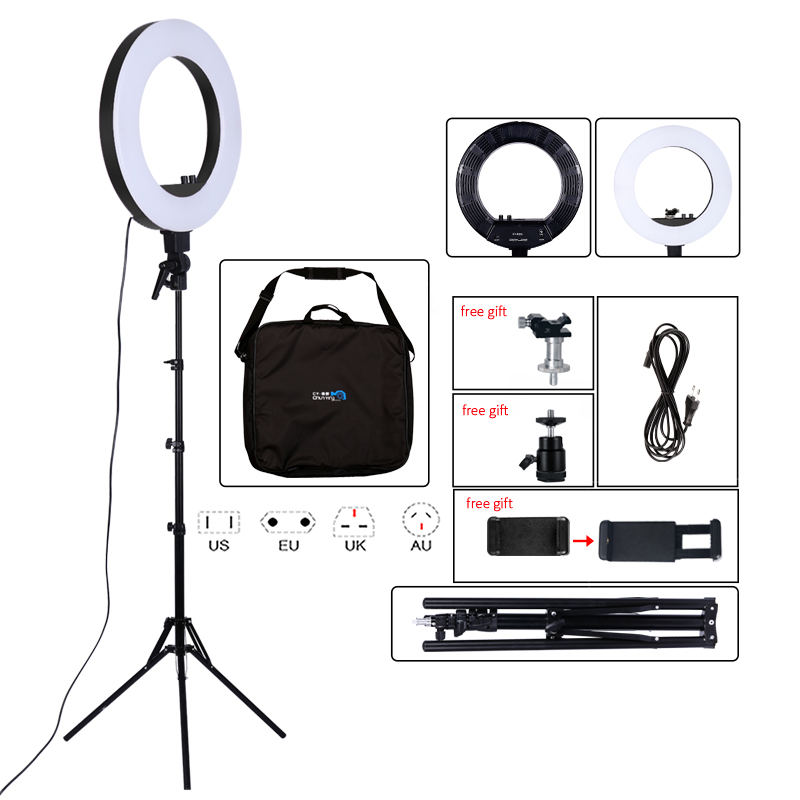 18inch Photography Light 50W 480pcs LED Ring Light Stepless Dimming Ring Lamp Camera Makeup Photo Studio