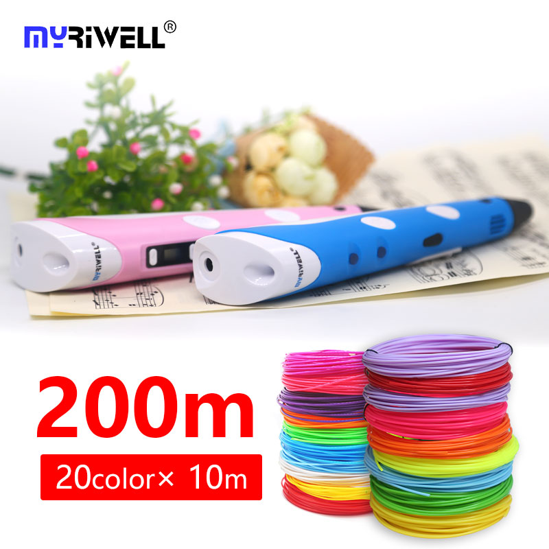 Myriwell 3d pen Most popular New Magic 3d printer pen 3d pens arts DIY gifts for kids 1.75mm ABS/PLA filament 3d printing pen 3d myriwell pen 2nd generation lcd display diy 3d printer pen with 100m abs pla filament magic 3d pens for kids drawing tools